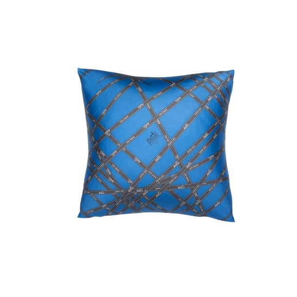 """""""Bolduc Ribbon"""" Hermès Silk Scarf Pillow For Sale"""