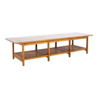 Paul McCobb for Lane Delineator Mid Century Rosewood and Walnut Coffee Table For Sale