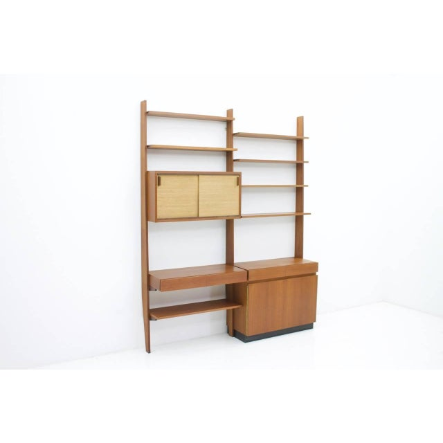 Dieter Waeckerlin Shelf System Wall Unit in Teak Wood, Behr Germany, 1950s For Sale - Image 11 of 11