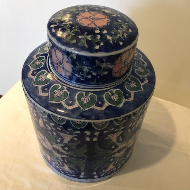 Chinese Style Ceramic Pot With Lid/Topper For Sale - Image 4 of 7