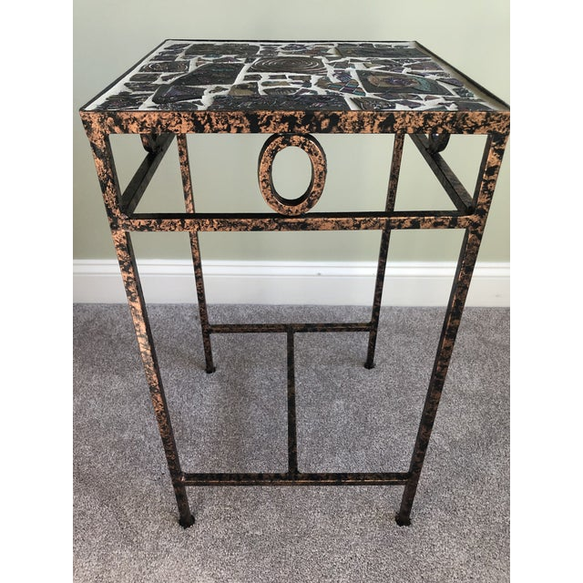 Tile Mosaic Side Table For Sale In Philadelphia - Image 6 of 6