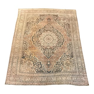 Antique Persian Tabriz Rug - 8′7″ × 10′11″