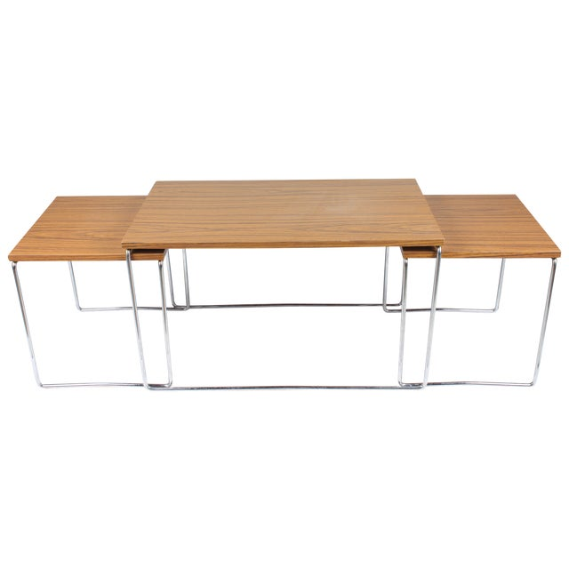 Mid-Century Modern Nesting Tables - Set of 3 - Image 1 of 6
