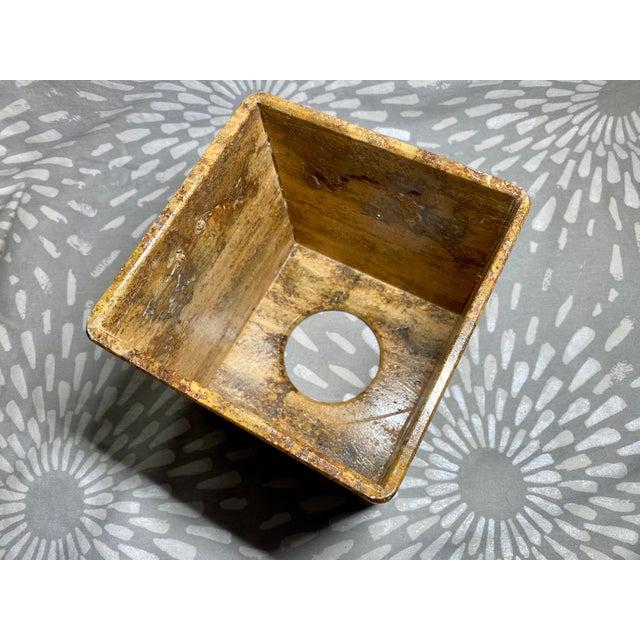 Stone Waterstone Dark Travertine Tissue Box Cover Holder For Sale - Image 7 of 8
