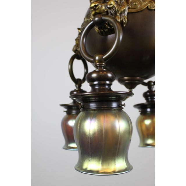 Classic Revival Lion Light Fixture For Sale - Image 9 of 10
