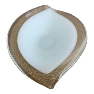 1950's Murano Glass Leaf Shaped Ashtray For Sale