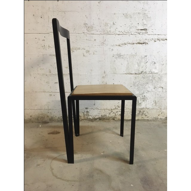 Contemporary Steel & Wooden Chair by Henry MacNeill For Sale - Image 3 of 6