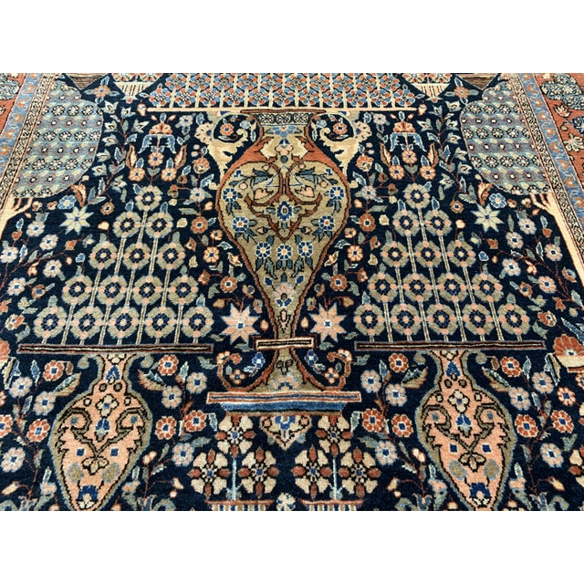 1910s Antique Persian Kashan Rug- 4′ × 6′6″ For Sale In Nashville - Image 6 of 12