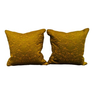 Fortuny Fabric Pillows- a Pair For Sale