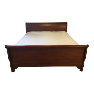 Traditional Charles P Rogers King Mahogany Sleigh Bedframe For Sale