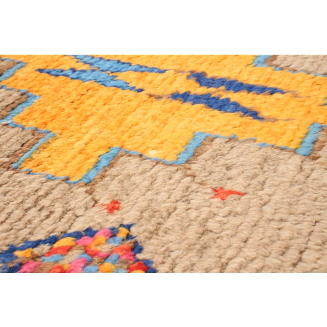 """Textile Moroccan-Style Hand-Knotted Rug-8'10"""" X 12'3"""" For Sale - Image 7 of 9"""