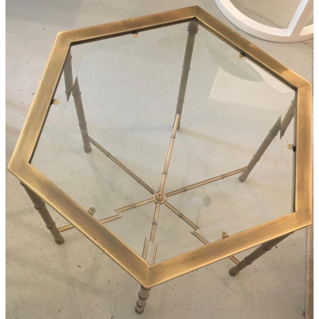 Mastercraft Brass Side Table - Image 5 of 5