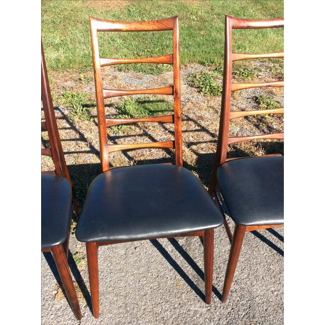 Niels Koefoed Rosewood & Teak Chairs - Set of 6 - Image 6 of 10
