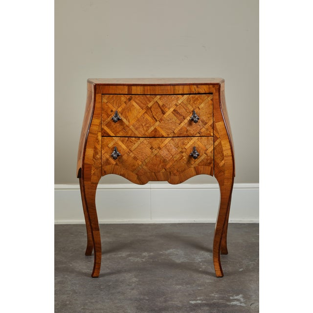 Early 20th C. Italian Marquetry Petite Chest of Drawers For Sale - Image 10 of 10