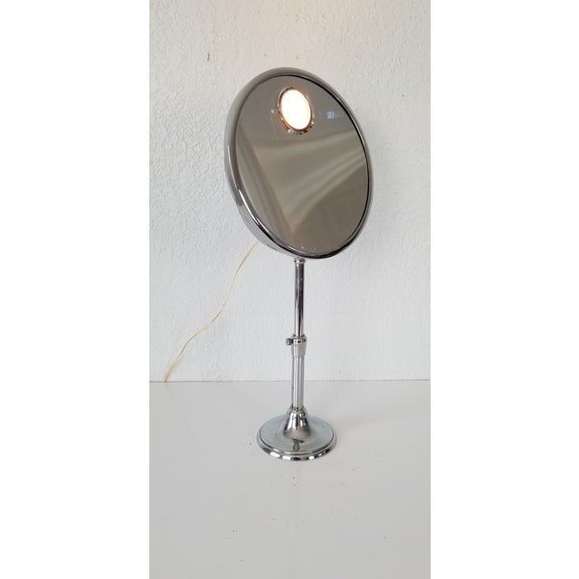 """We are very pleased to offer for sale is a Stunning Vintage freestanding adjustable Brot """"Mirophar """" Mirror with nickel..."""