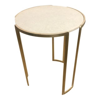 Contemporary Channel Accent Table For Sale