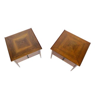Pair of Danish Mid-Century Modern Walnut End Tables For Sale