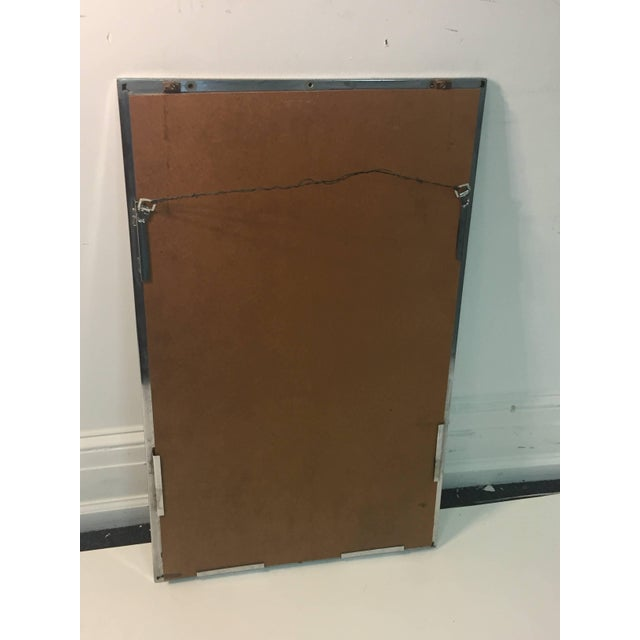 Modern Chrome Rectangular Mirror With Octagonal Center For Sale In Philadelphia - Image 6 of 9