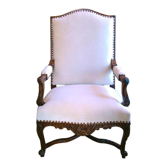 19th Century Regence Walnut Armchair For Sale