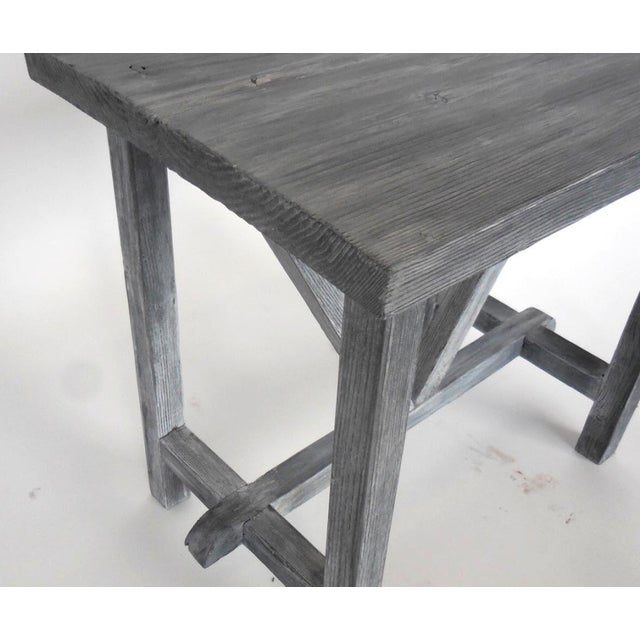 Customizable Reclaimed Wood Side Table For Sale In Los Angeles - Image 6 of 7
