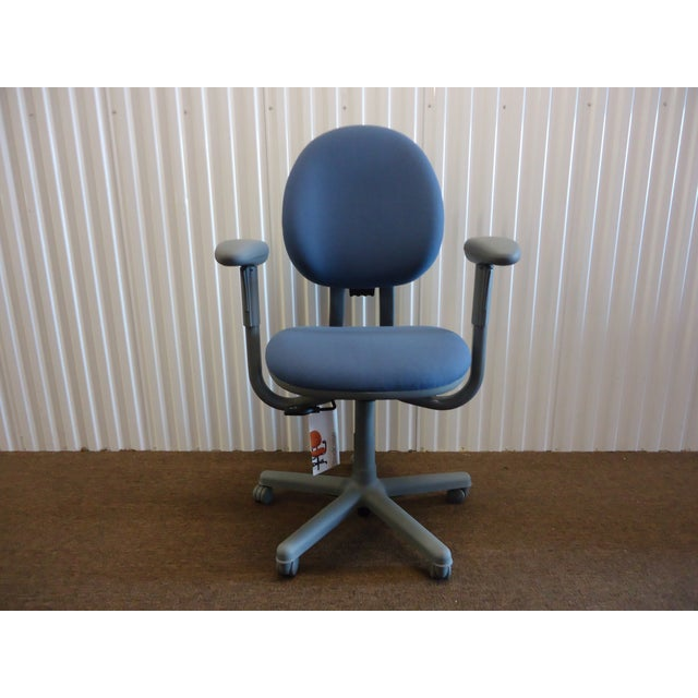 Modern Steelcase Criterion Blue Ergonomic Office Desk Chair For Sale - Image 13 of 13