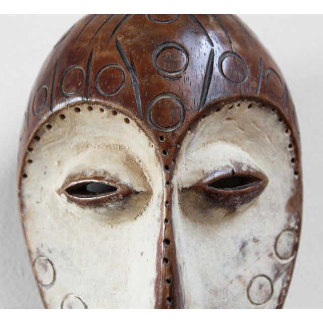African Carved Wood African Lega Mask For Sale - Image 3 of 3