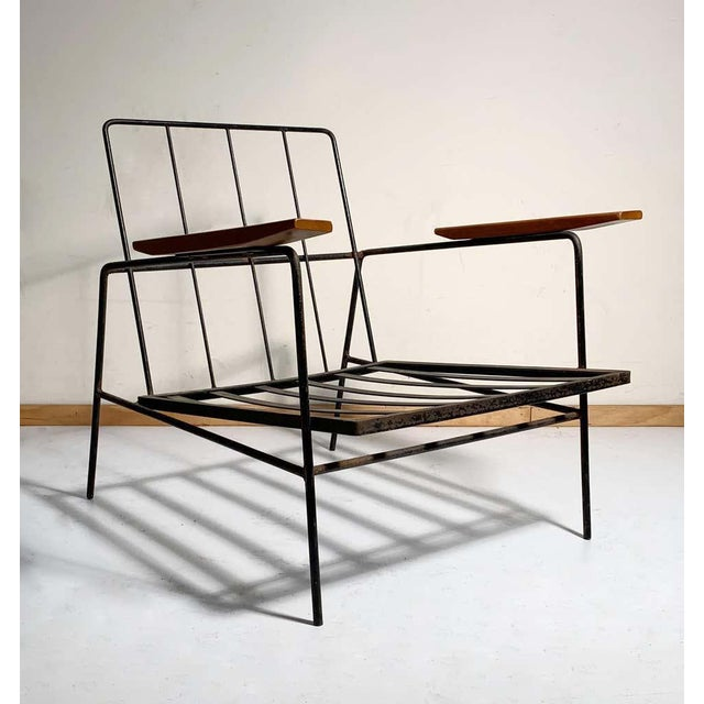 Vintage modern Richard McCarthy lounge chairs. One of his cleanest and simplest forms. In the manner of Milo Baughman,...