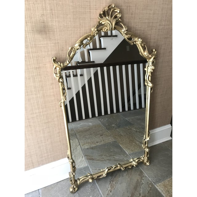 Chinoiserie Gold Carved Wall Mirror For Sale - Image 9 of 13