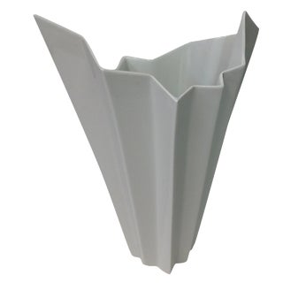 Hutschenreuther White Op Art Vase For Sale