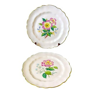 Antique George Jones Crescent China Art Plates, Signed - a Pair For Sale