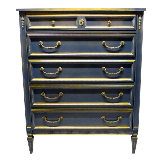 French Style Gray-Blue Painted Dresser - Image 1 of 11