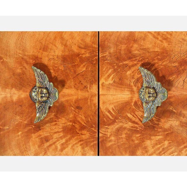 French Regency Mahogany Veneer Commode For Sale In Los Angeles - Image 6 of 9