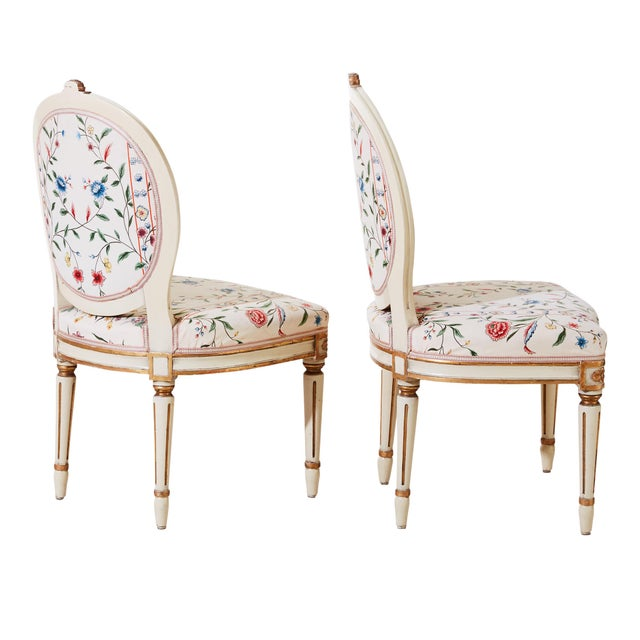 French 1900s Classic Gustavian Chairs - a Pair For Sale - Image 3 of 6