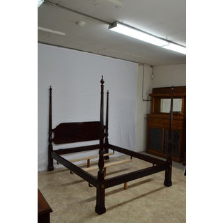 20th Century Traditional Stickley Solid Mahogany Queen Poster Bedframe Preview