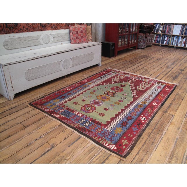 A fantastic old prayer kilim - a very artistic example of this well-known type, better than most antique ones we have seen.