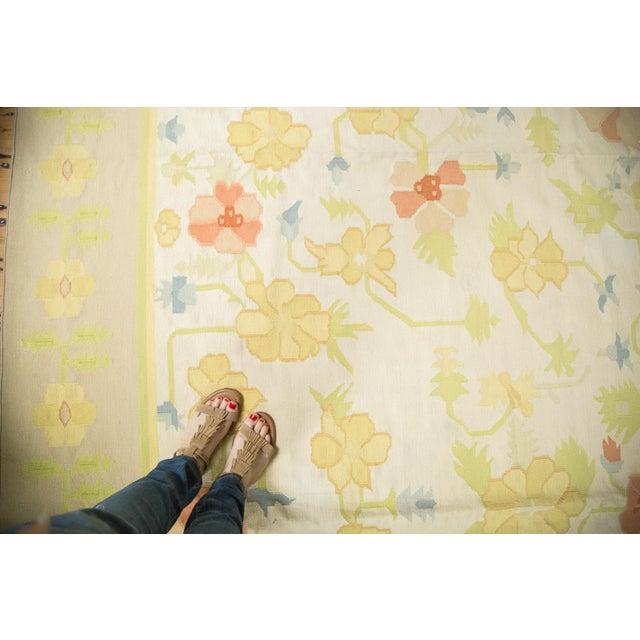 """Vintage Minimalist Dhurrie Carpet - 8'9"""" X 11'10"""" - Image 5 of 10"""