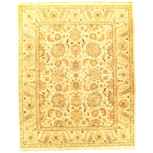 """Pasargad NY Sultanabad Design Hand-Knotted Rug - 7'11"""" x 9'10"""" For Sale - Image 4 of 4"""