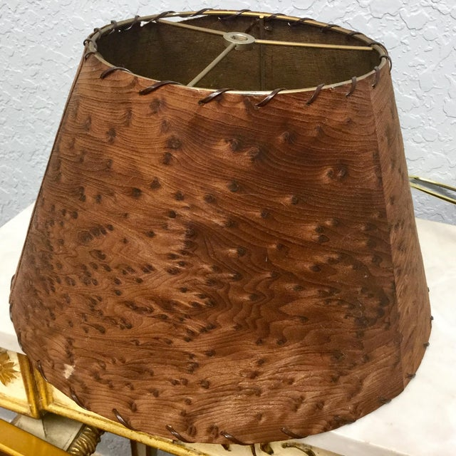 Mid-Century Naturalistic Burl Wood Lamp For Sale - Image 9 of 10