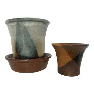 Mid 20th Century Potterycraft Pots by Robert Maxwell- - a Pair For Sale