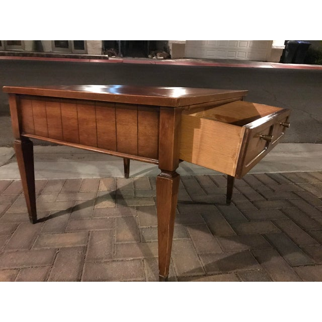 1950s Mid-Century Single Drawer Oak Coffee Table For Sale - Image 5 of 5