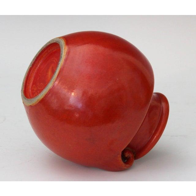 Awaji Pottery Art Deco Vase in Crystalline Chrome Red Glaze For Sale In New York - Image 6 of 10