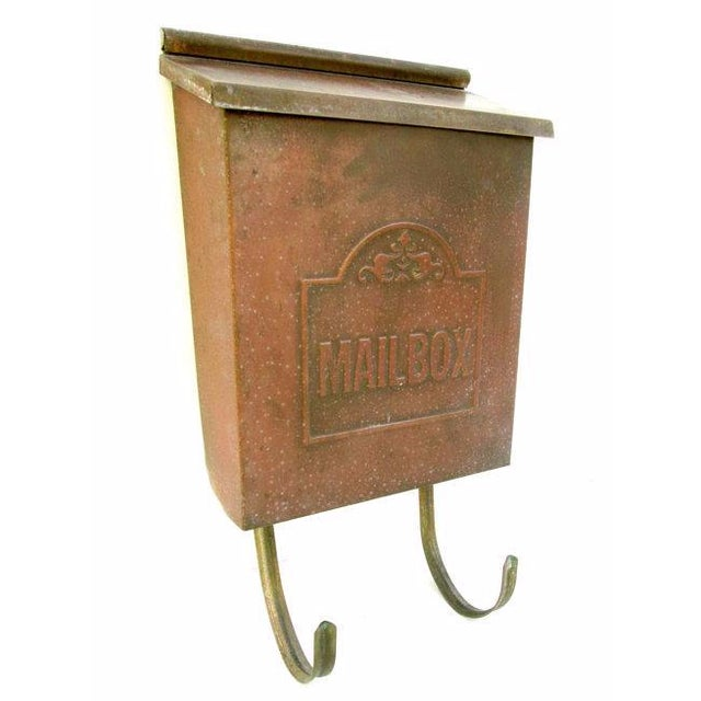 Vintage Copper Wall Mount Mailbox - Image 1 of 5