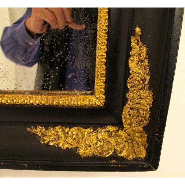 Black & Gold Empire Mirror - Image 4 of 6