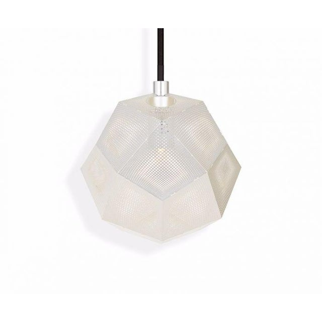 Mid-Century Modern Tom Dixon Etch Mini Pendant in Silver For Sale - Image 3 of 8