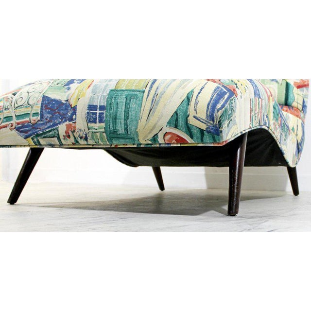 Blue Mid-Century Modern Contour Wave Chaise Lounge Chair by Adrian Pearsall, 1950s For Sale - Image 8 of 10