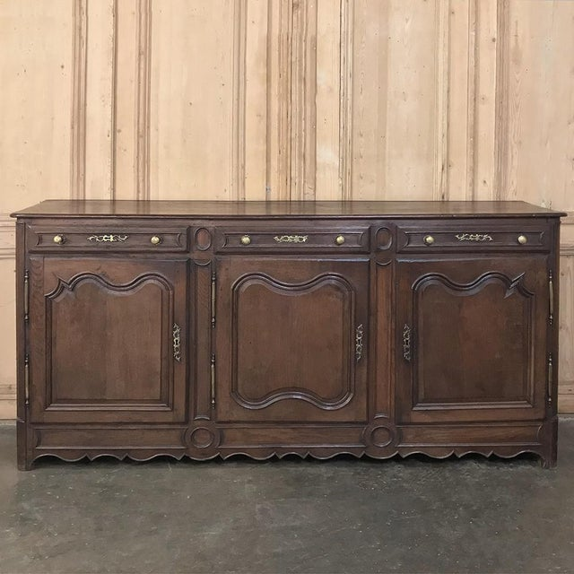 19th Century Country French Provincial Oak Low Buffet For Sale - Image 13 of 13