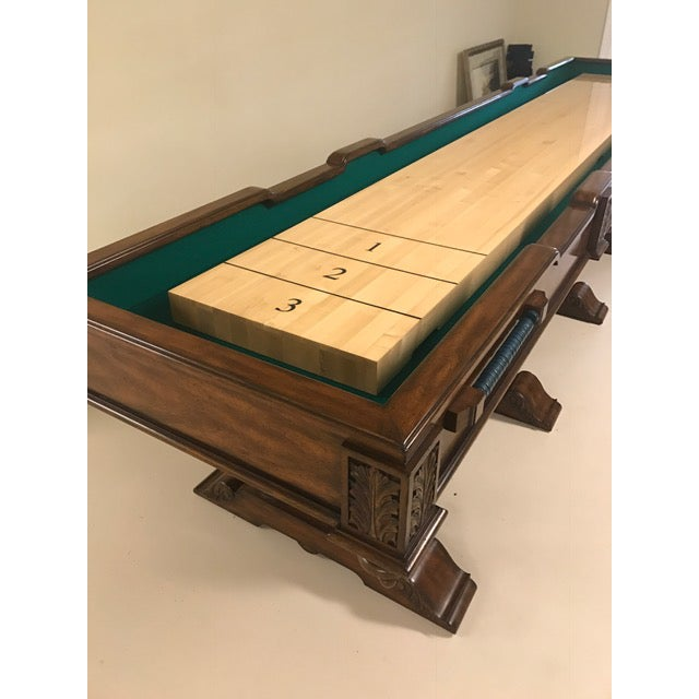 Hollywood Regency Maitland Smith Shuffleboard Game Table For Sale - Image 3 of 6