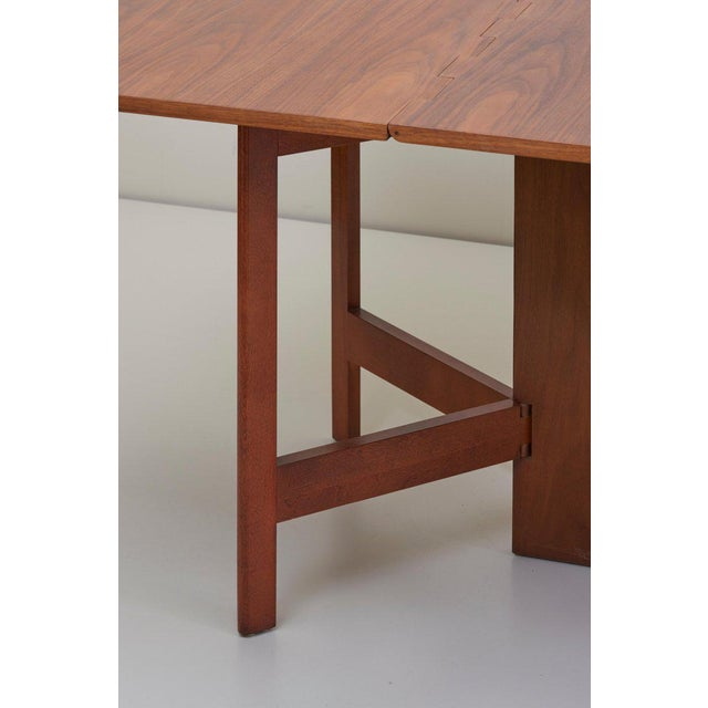 Herman Miller George Nelson Gate-Leg Dining Table Model 4656 by Herman Miller in Walnut For Sale - Image 4 of 13