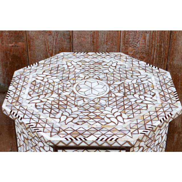 Syrian Mother of Pearl Inlaid Table For Sale - Image 4 of 10