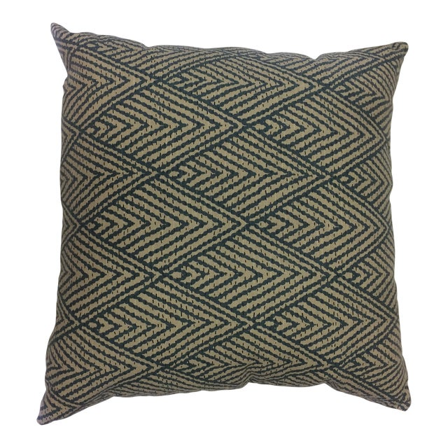 Antique Patterned Throw Pillow - Image 1 of 4